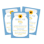 Blue Book Request Card BabyQ BBQ Sunflower Printable