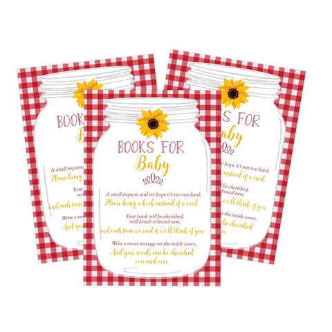 Red Book Request Card BabyQ BBQ Sunflower Printable