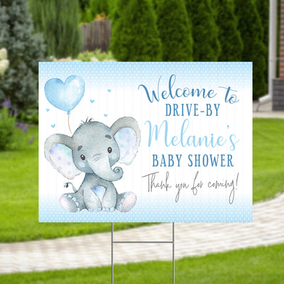 Elephant Baby Shower Yard Sign Welcome Poster Sign Printable - Your Main Event