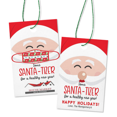 Customizeable Santa-Tizer Printable Hand Sanitizer Easy Christmas Gift Idea - Your Main Event