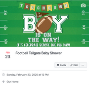 football tailgate baby shower facebook event cover