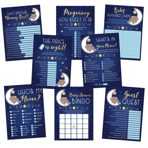 Love You To The Moon Bear Baby Shower Games