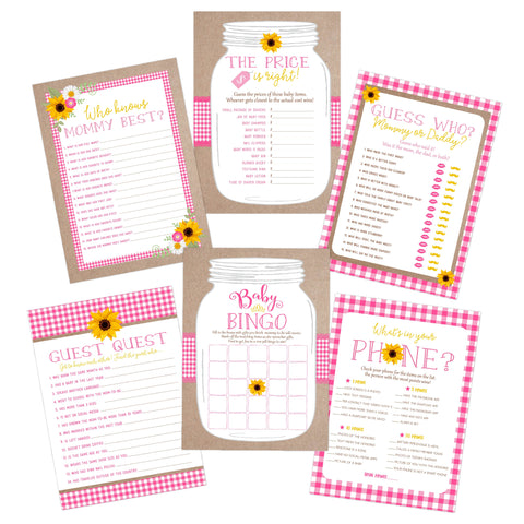 Pink BabyQ BBQ Baby Shower Games - Your Main Event