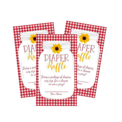 BabyQ BBQ Baby Shower Diaper Raffle Cards - Your Main Event