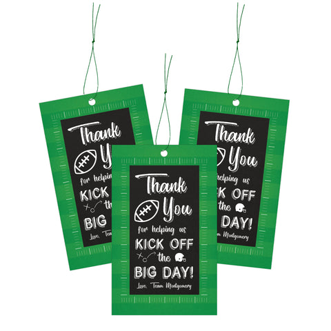 Football Sports Baby Shower Favor Tags Printable - Your Main Event