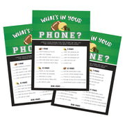 Football Sports What's in Your Phone Baby Shower Game - Your Main Event
