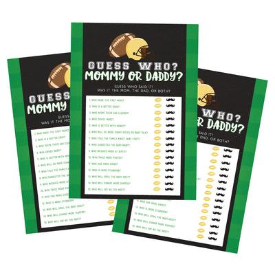 Football Sports Guess Who? Baby Shower Game - Your Main Event