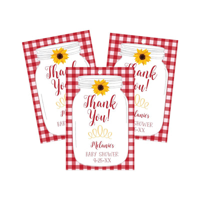bbq babyq baby shower thank you favor tags printable red