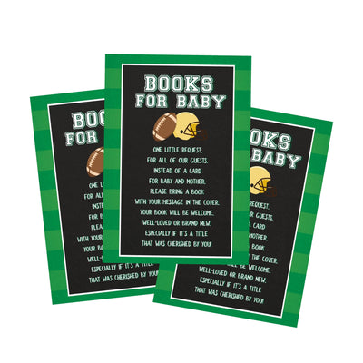 Football Tailgate Baby Shower Book Request Cards - Your Main Event