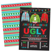 Ugly Sweater Christmas Party Invitation Printable - Your Main Event