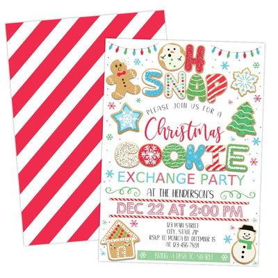 Christmas Cookie Exhange Decorating Party Invitation Printable - Your Main Event