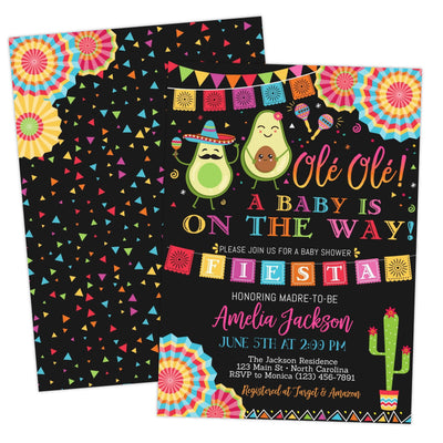 fiesta baby shower invitation printable digital