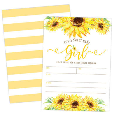 Sunflower Baby Shower Amazon Template - Your Main Event