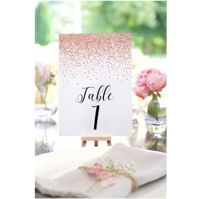 Confetti Glitter Table Numbers Template