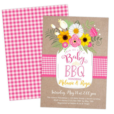 Pink BabyQ BBQ Baby Shower Invitation - Your Main Event