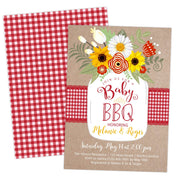 babyq baby shower bbq country red invitation invite template printable
