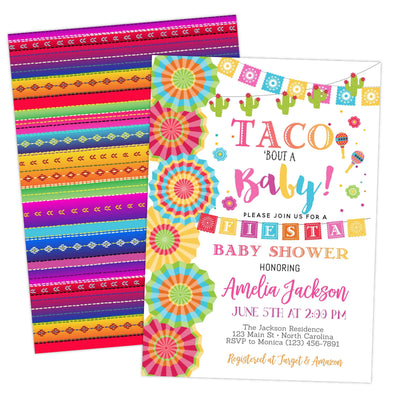 Fiesta Taco Bout A Baby Shower Invitation - Your Main Event