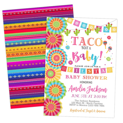 Fiesta Taco Bout A Baby Shower Invitation