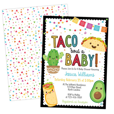 Fiesta Taco Bout A Baby Shower Invitation, Drive By Virtual Zoom Evite Invite, DIY Instant Download Template - Your Main Event