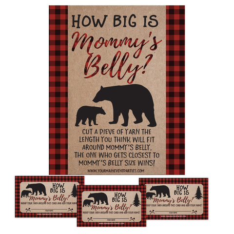 Lumberjack How Big Is Mommy's Belly Baby Shower Game - Your Main Event