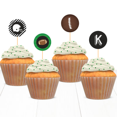 Football Sports Baby Shower Cupcake Topper Printable - Your Main Event