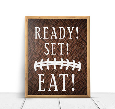 Football Sports Ready Set Eat Baby Shower Sign Decoration - Your Main Event