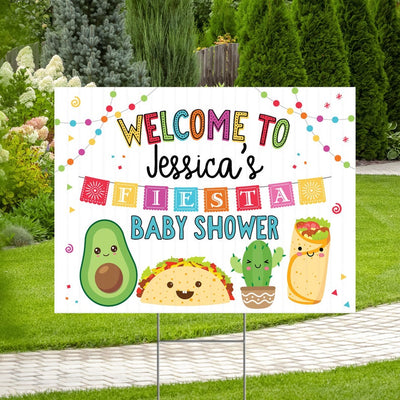 Taco Bout A Baby Fiesta Baby Shower Yard Sign Welcome Poster Sign Printable - Your Main Event