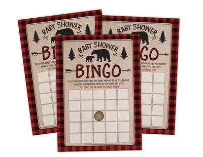 Lumberjack Lumber Jack Baby Shower Game Bingo Instant Download, Ideas For Boy Baby Shower - Your Main Event