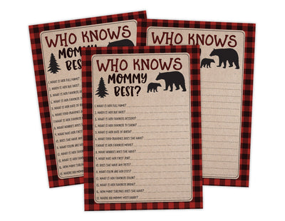 Who Knows Mommy Lumberjack Lumber Jack Baby Shower Game Instant Download, Ideas For Boy Baby Shower - Your Main Event