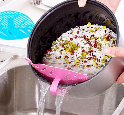 Leaf Shape Plastic Rice /Beans Strainer - unique innovation pro