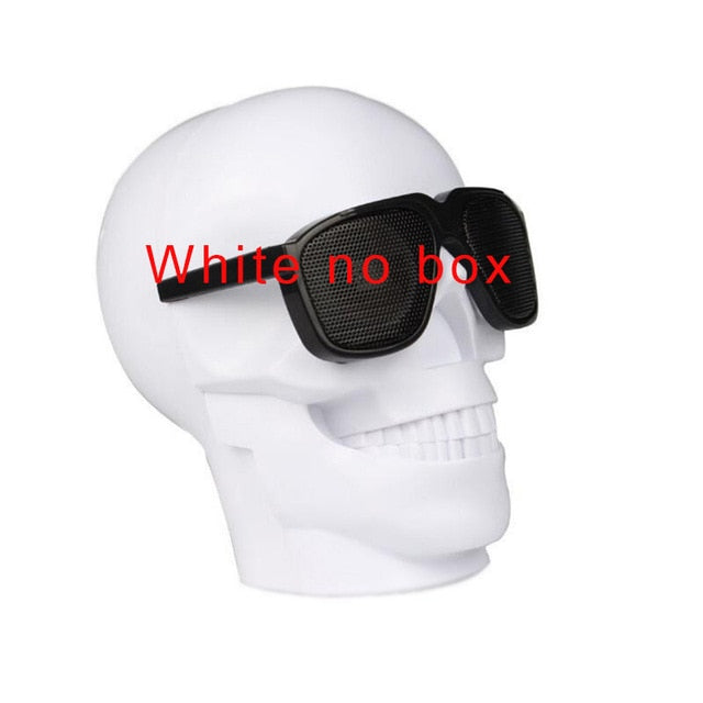Skull Shape Wireless Bluetooth Speaker Sunglasses - unique innovation pro