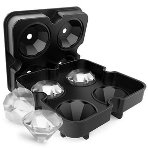 4 Cavity Diamond Shape 3D Ice Cube Mold Maker - unique innovation pro