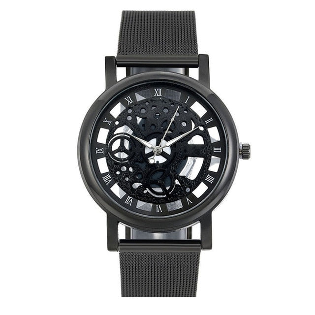 Stainless Steel Mesh Skeleton Automatic Watch - unique innovation pro