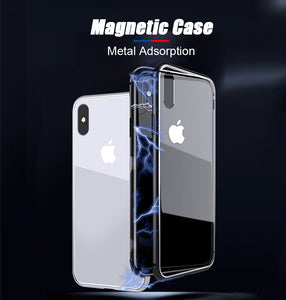 Metal Adsorption Magnetic Case For iPhone - unique innovation pro