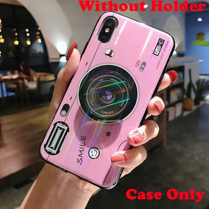 Silicone Camera stand Holder Cover Case For iPhone - unique innovation pro