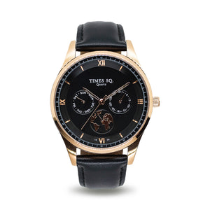 London Dress Watch - Rose Gold Black