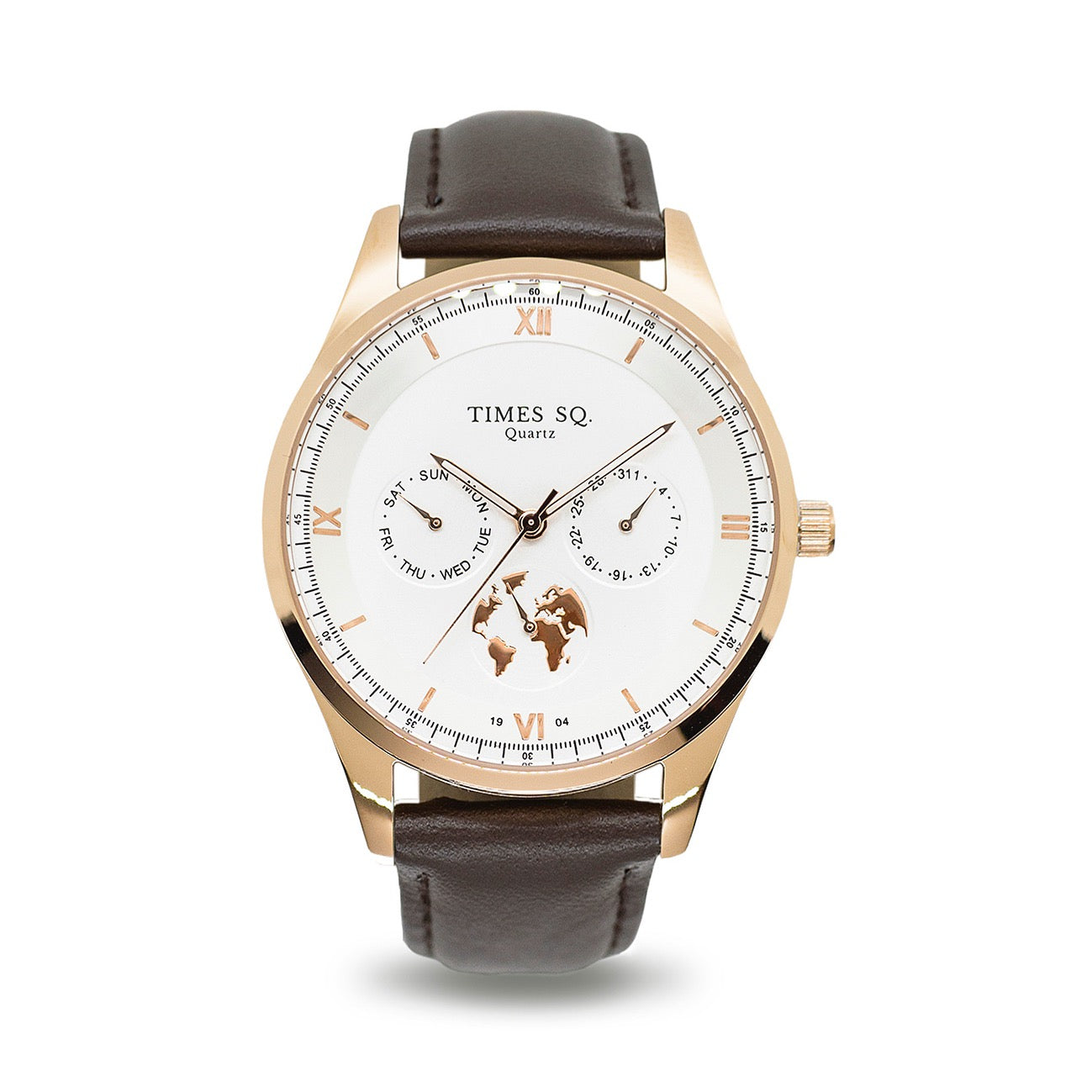 London Dress Watch - Rose Gold White