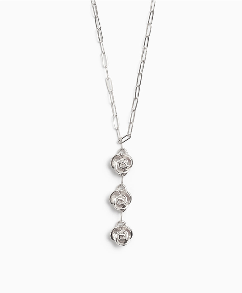 Awakening of Flora Necklace Silver