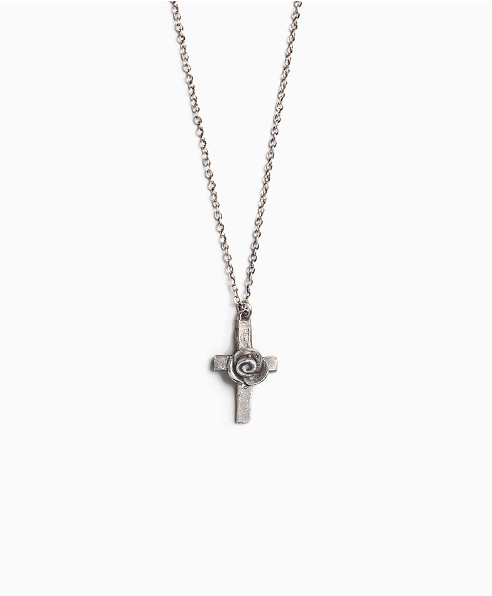 Rosette Cross Necklace