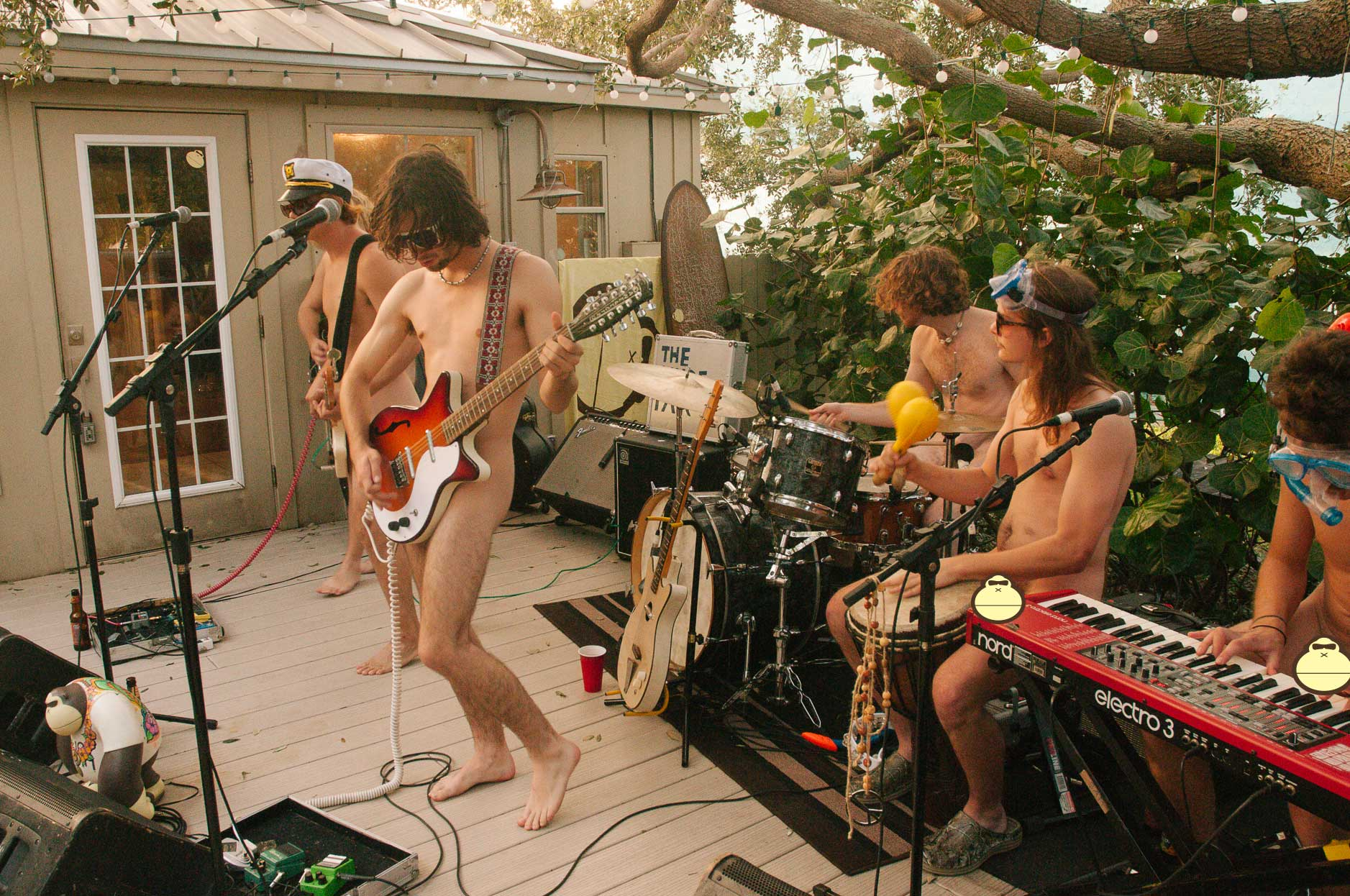 Nude Party Sonnys Porch Concert 8