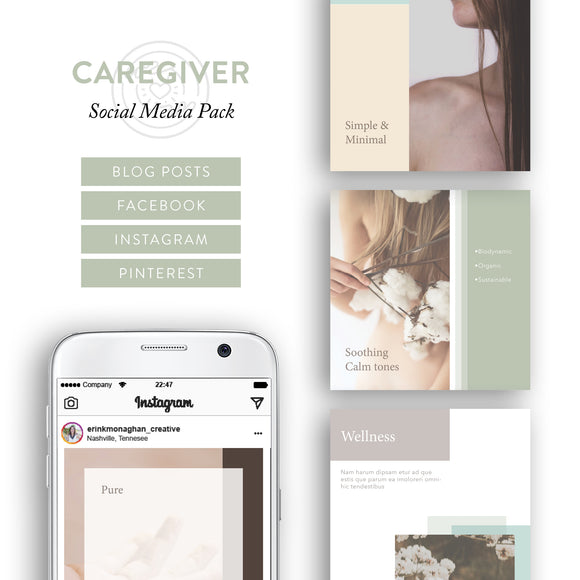 Caregiver Archetype Social Media Brand Kit