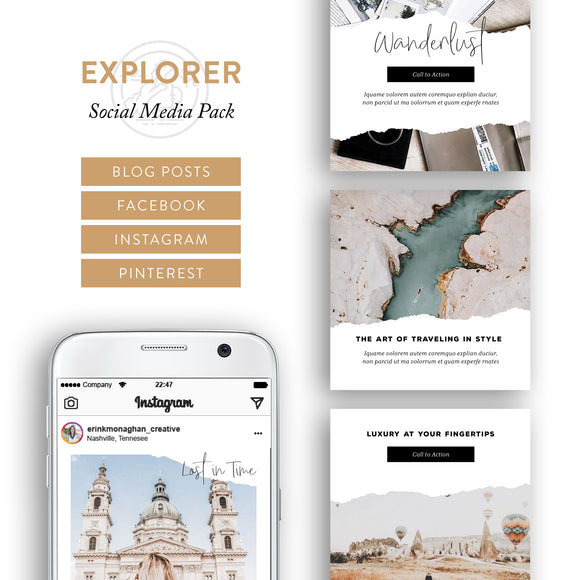 Explorer Archetype Social Media Brand Kit