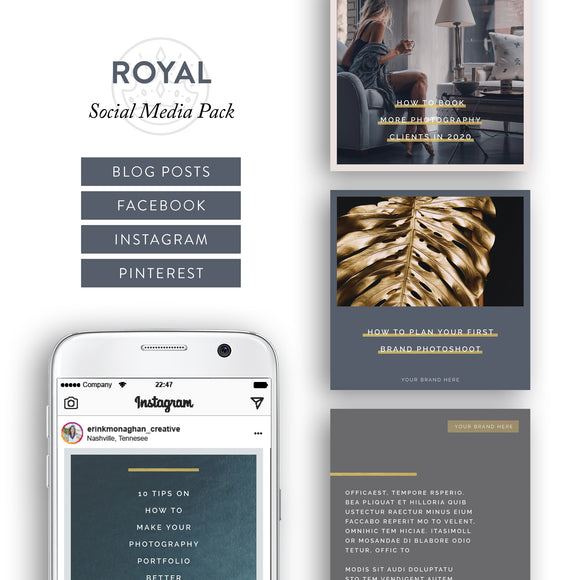 Royal Archetype Social Media Brand Kit