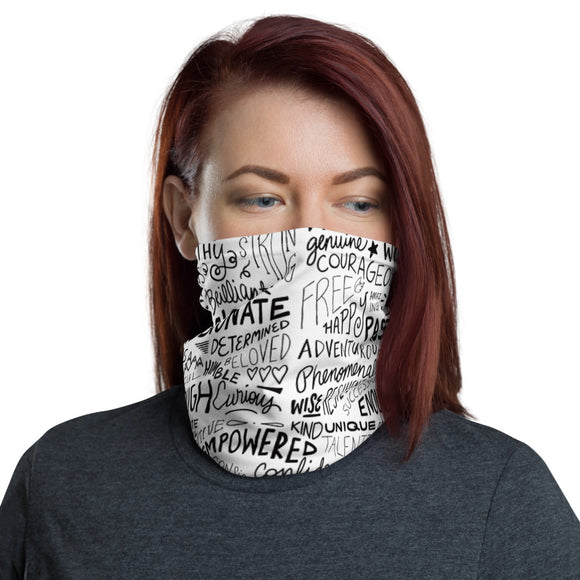 Inspirational Words Neck Gaiter