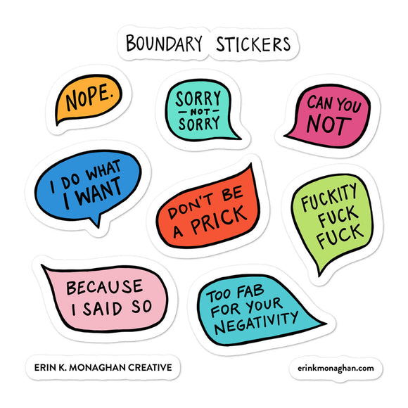 Boundaries Sticker Pack