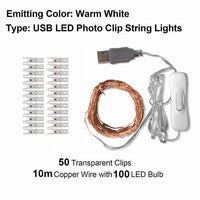 Photo Clip USB LED String Lights  | Decoration Party