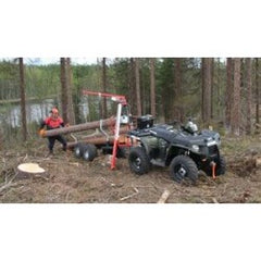 ATV TIMBER TRAILER + WIRE ROPE JACK