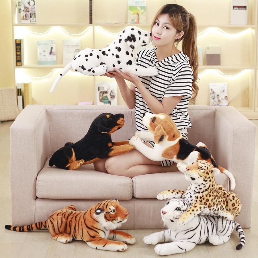 Animal Lifelike Stuffed Plush Toys - White Tiger, Tiger, Leopard - Maraya's Marketplace