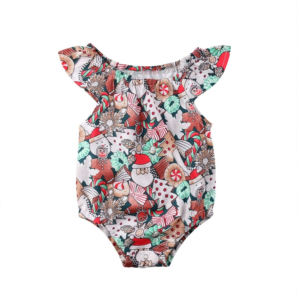 Christmas Baby Girl Romper - Maraya's Marketplace
