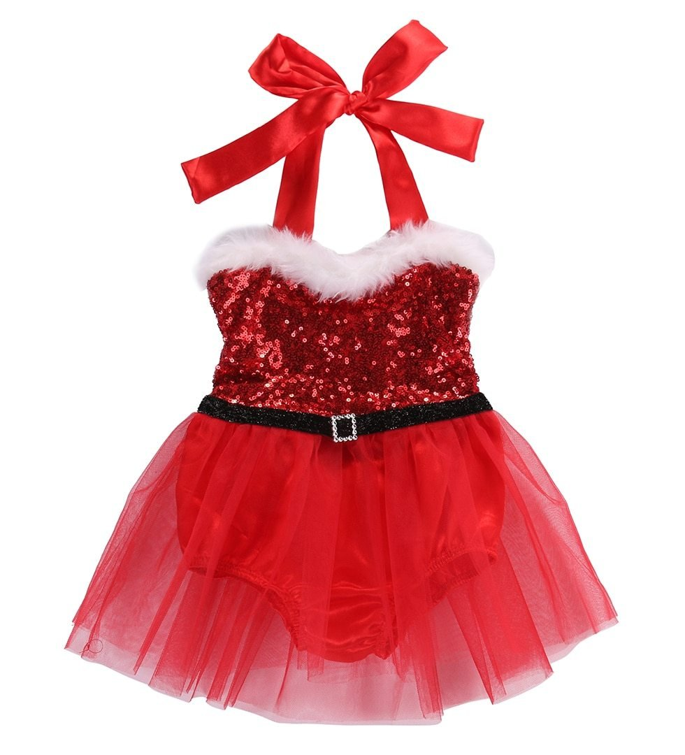 Christmas Baby Girl Romper Dress - Maraya's Marketplace